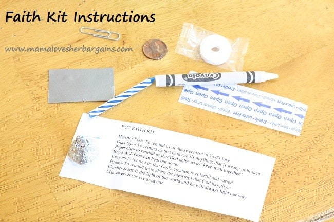 faith kit instructions
