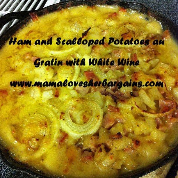 ham and scalloped potatoes au gratin with white wine recipe