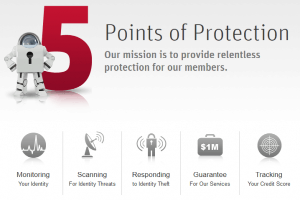 lifelock offers 5 points of protection