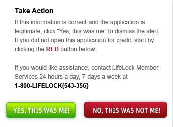 lifelock take action