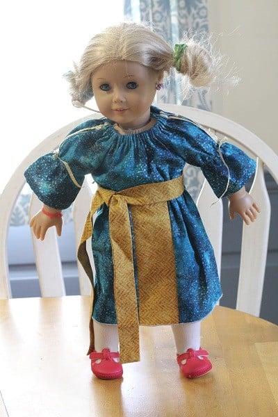 merida 18 inch doll dress