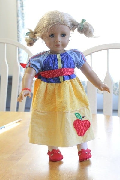 snow white 18 inch doll dress