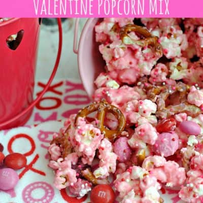 Cupid's Crunch Valentine Popcorn Mix- This Mama Loves