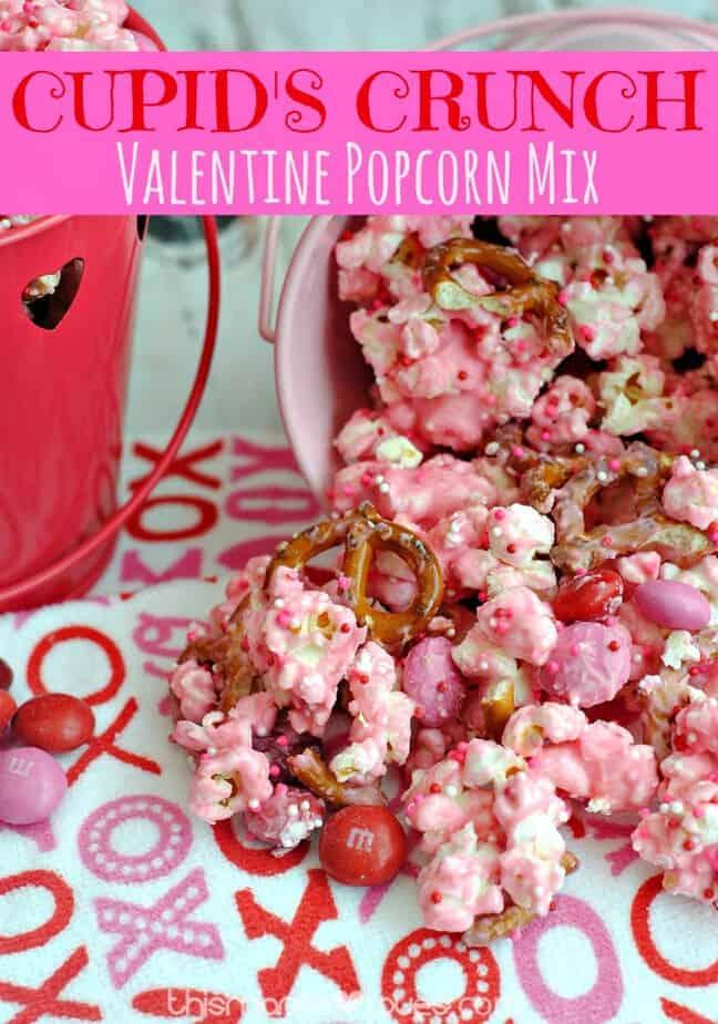 Cupid's Crunch Valentine Popcorn Mix- This Mama Loves
