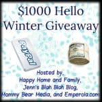 hello winter cash giveaway