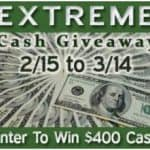 extreme cash 400 giveaway