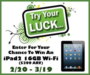 Try Your Luck iPad 2 Giveaway