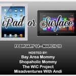 ipad or surface giveway