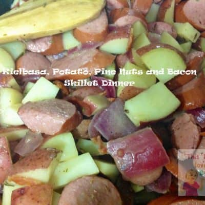 Kielbasa, Potato, Pine Nuts & Bacon Dinner (Recipe)