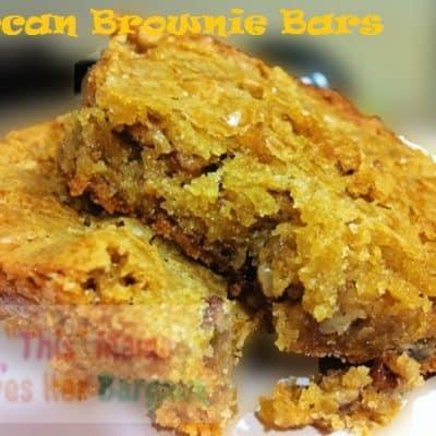 Pecan Brownie Bars