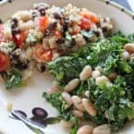 vegan plant strong kale beans food