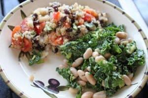 vegan plant strong kale beans food