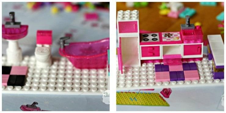 Barbie Megabloks Build n Style Dream Mansion Bath and Kitchen