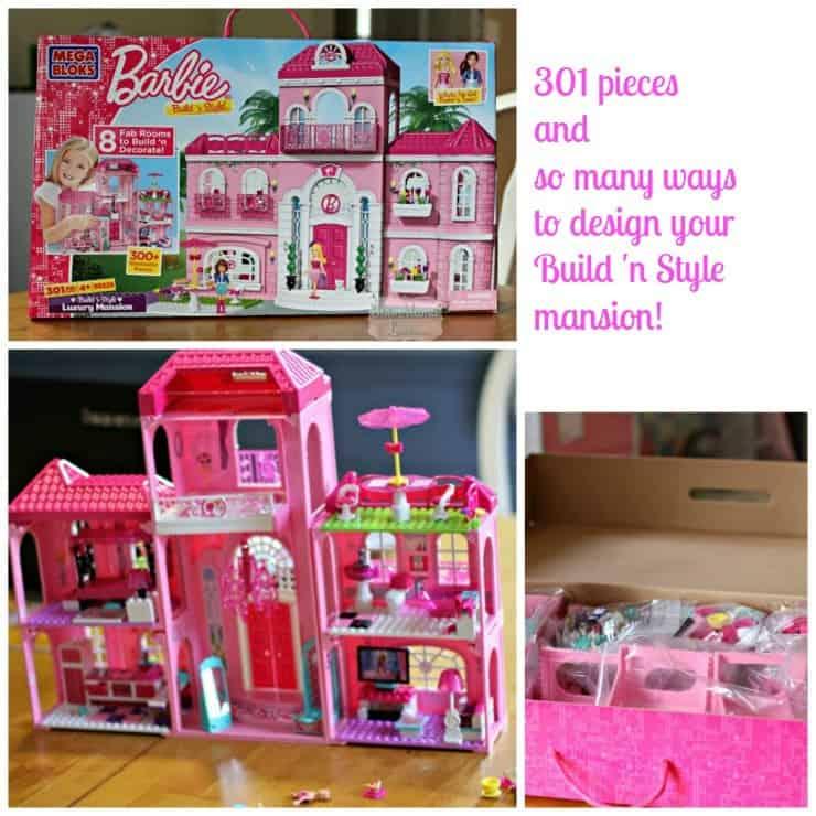 Barbie Megabloks Build n Style Dream Mansion Bath various