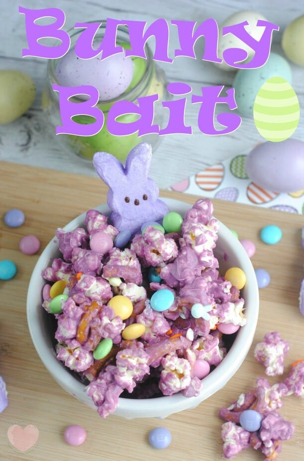Bunny Bait Easter Popcorn Recipe from This Mama Loves