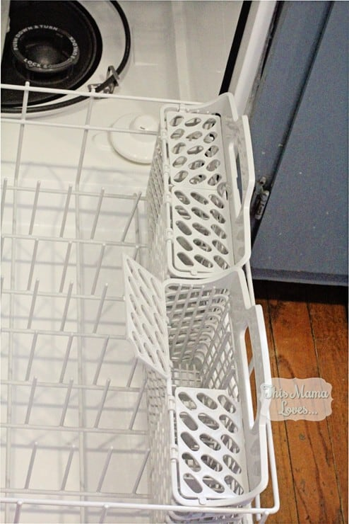 amana dishwasher silverware bins