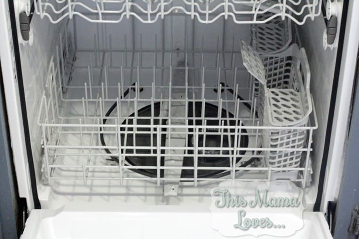 amana inside dishwasher