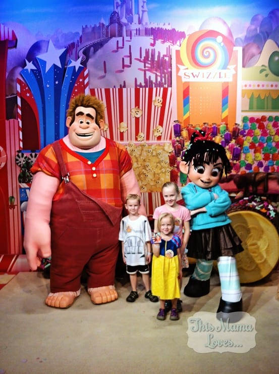 kids with ralph and vanellope