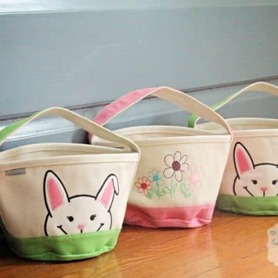 Land's End Canvas Easter Basket Totes
