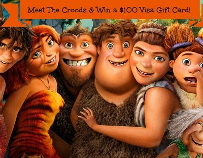 Let's go see The Croods!  $100 Visa Gift Card Giveaway