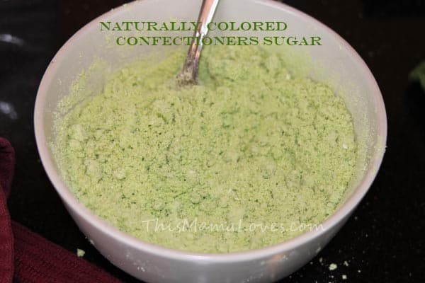 naturally colored confectioners powder