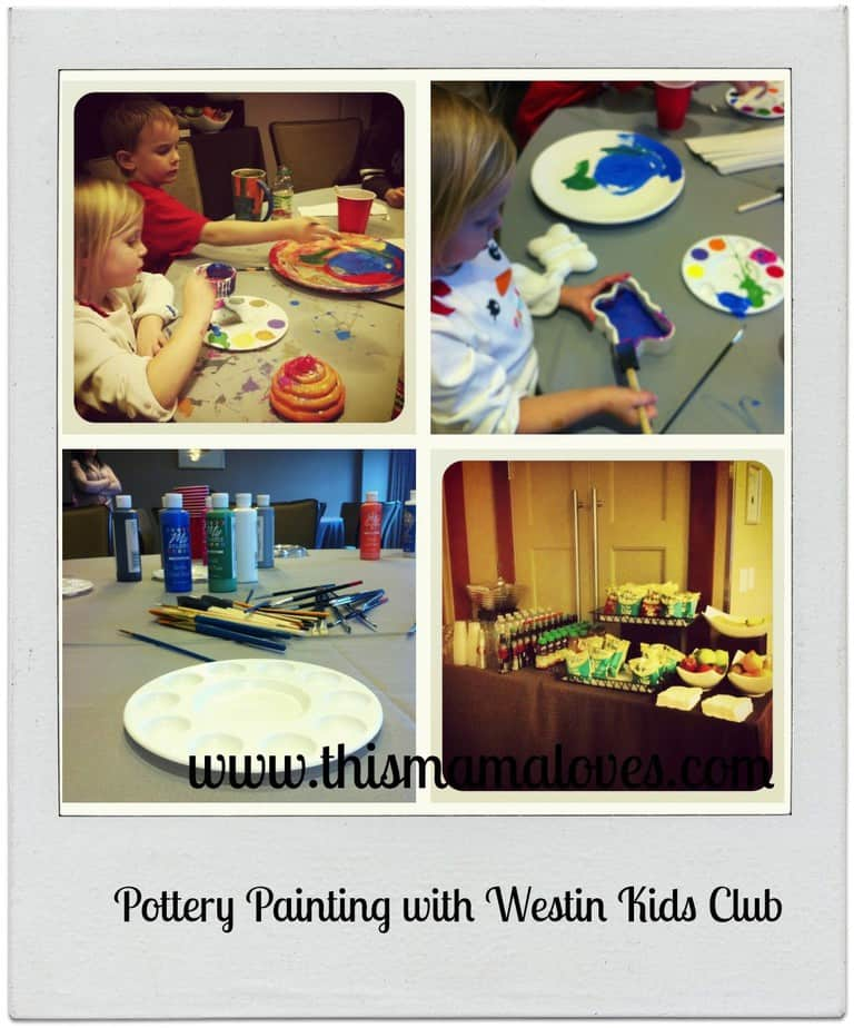pottery painting at westin kids club