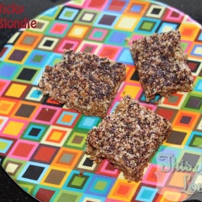 Vegan Sticky Almond Blondies by Dreena Burton + a Giveaway