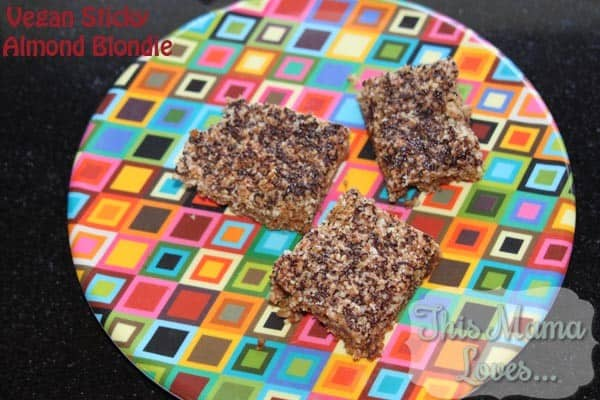 Vegan Almond Sticky Blondie recipe by Dreena Burton