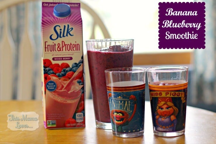 banana blueberry smoothie silk fruit and protein