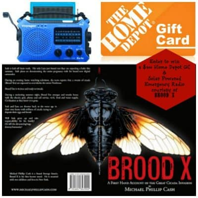 Brood X is coming  ($300 Home Depot GC and Solar Powered Radio Giveaway)
