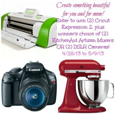 What are you making for mom? With Mom? As a mom? Mother's Day Giveaway