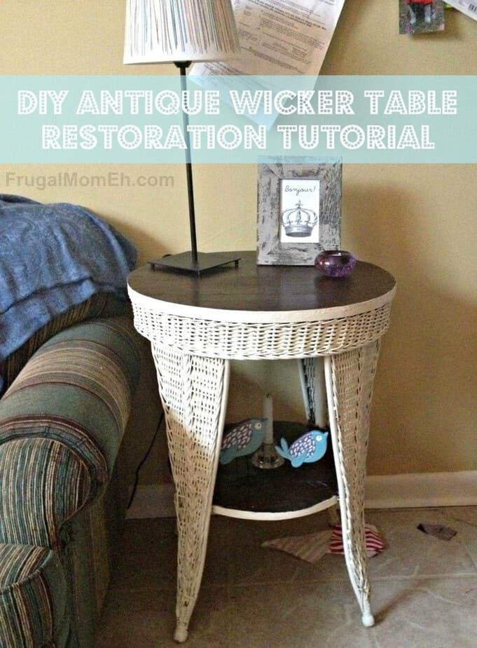 diy antique wicker table restoration