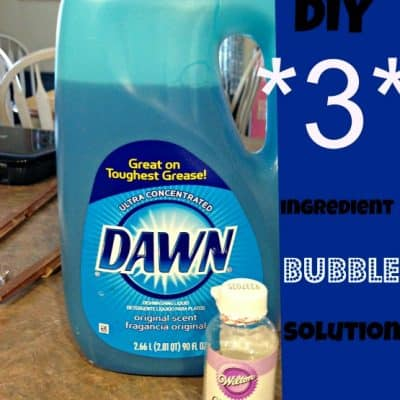 DIY 3 Ingredient Bubbles
