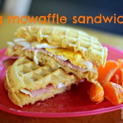 Egg McWaffles (Eggo Recipe) #EggoWaffleOff