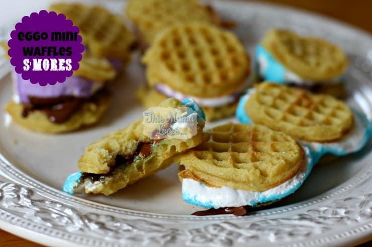 eggo mini waffles s'mores