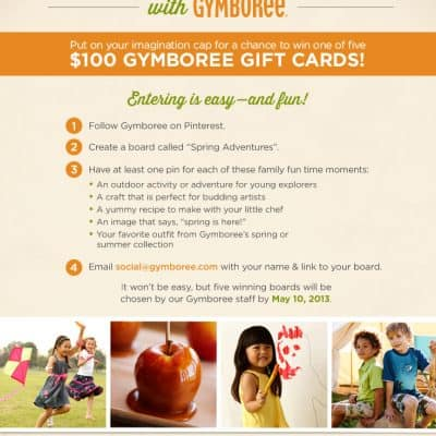 Spring into Adventures with Gymboree! (Win one of 5 $100 Gymboree Gift Cards)
