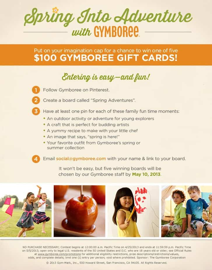 gymboree pinterest giveaway