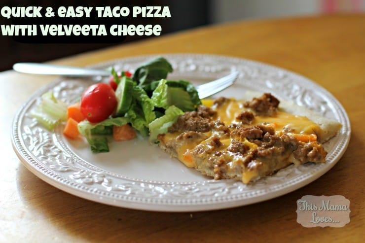 quick easy taco pizza with velveeta cheese recipe
