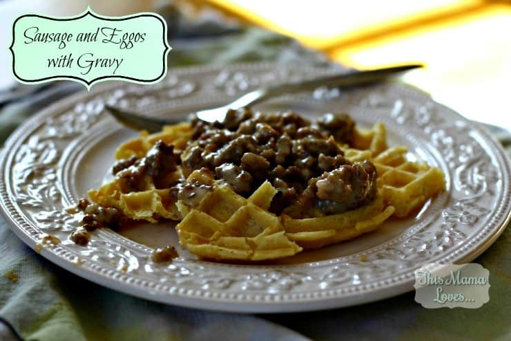 sausage and eggos with gravy