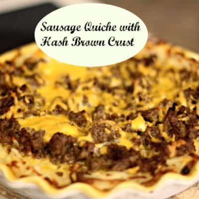 Sausage Quiche with Hash Brown Crust