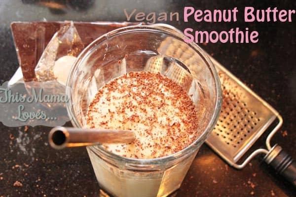 vegan peanut butter smoothie