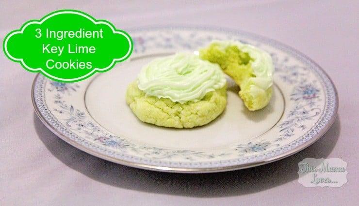 3-ingredient key lime cookies