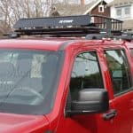 curt roof mount cargo basket mounted