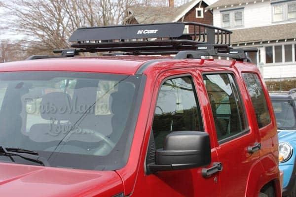 curt roof mount cargo basket mounted