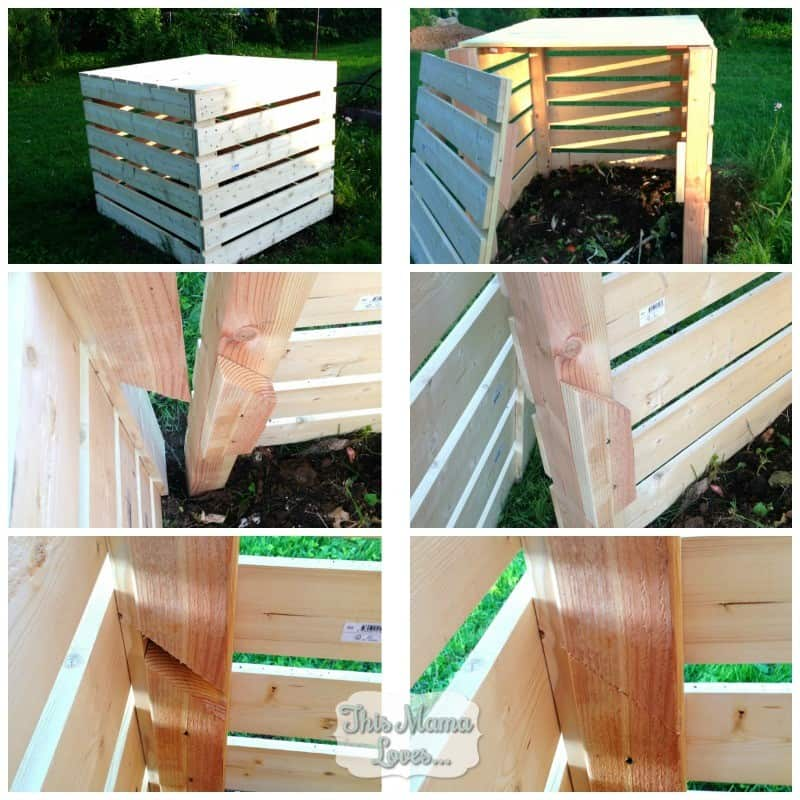 diy compost bin removal for front