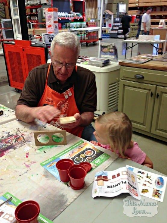 home depot kids workshop getting help