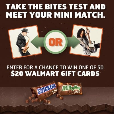 Snickers and Milky Way come in bite size now. (Giveaway 3 winners)