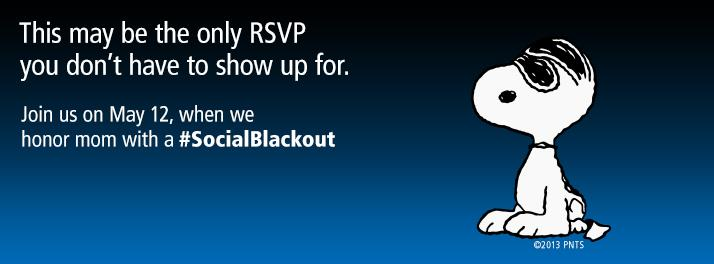 social black out mothers day