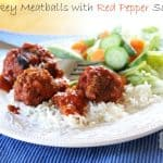 turkey meatballs with red pepper sauce recipe