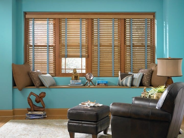 Wood Blinds with Decorative Tapes